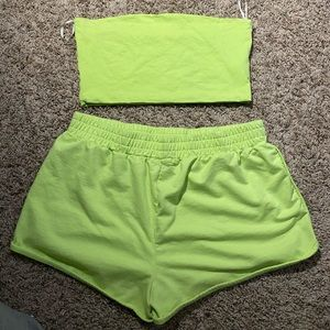 F21 Shorts & Crop Two Piece